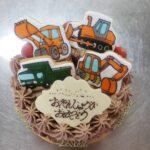 アイシングクッキーバースデーケーキ